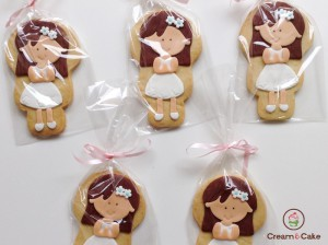 GALLETA DECORADA COMUNION NIÑA