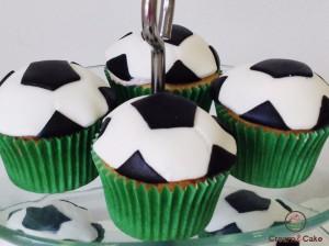 cupcake balon futbol