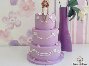 tarta comunion niña