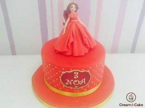 tarta pastel cumple niña decorada princesa