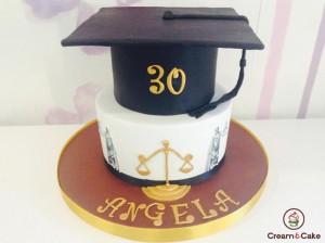 tarta fondan celebración graduación colegio