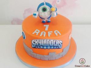 tarta pastel cumple decorada muñecos slylanders