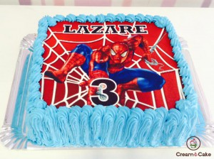 TARTA-TRADICIONAL-DECORADA-FOTO-SPIDERMAN