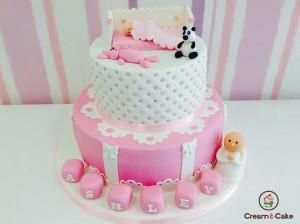 tarta celebracion aniversario decorada