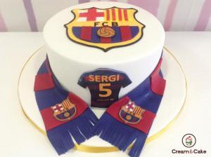 comprar tarta decorada del barsa futbol