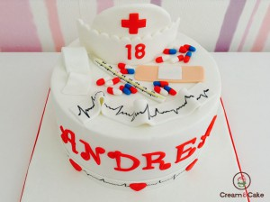 tarta aniversario para enfermera