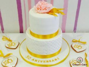 tarta celebración bodas de oro