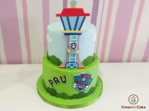 tarta para cumpleaños infantil dibujos patrulla canina