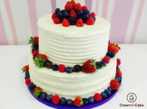 Comprar pastel layer cake frutas