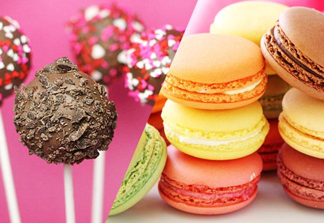 Cakepop y Macarons